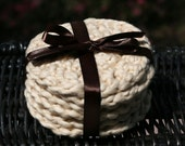Organic Cotton Face Scrubbies Set of 6 in Macadamia