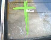 Jesus Cross Car sticker