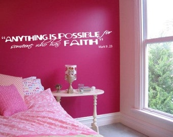 ANYTHING IS POSSIBLE... - Wall Decal