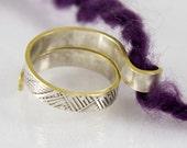 The original knitting ring, original design ring, Knit1 ring, crochet ring, crochet gifts, knitter gifts, crochet yarn guide ring, knitting