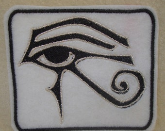 Eye of Ra, Eye of Horus embroidered iron on patch