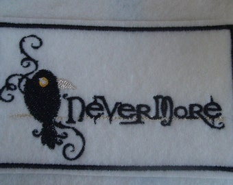 Edgar Allen Poe's Raven nevermore embroidered iron on patch