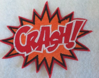 CRASH super hero embroidered iron on patch