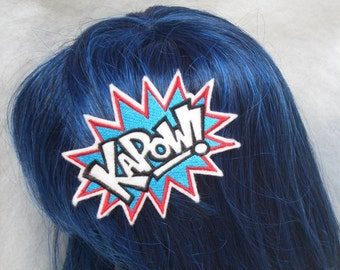 KAPOW super hero embroidered hair barrette