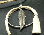 Native American Shield and Feather Earrings
