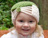 Beanie with Fleur De Lis Button