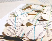 everyday party paper bunting decoration - 6.5 feet of recycled novel garland - one of a kind and handmade just for you