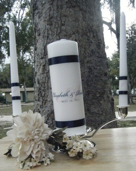 Unity Candle Monogram Personalized Wedding