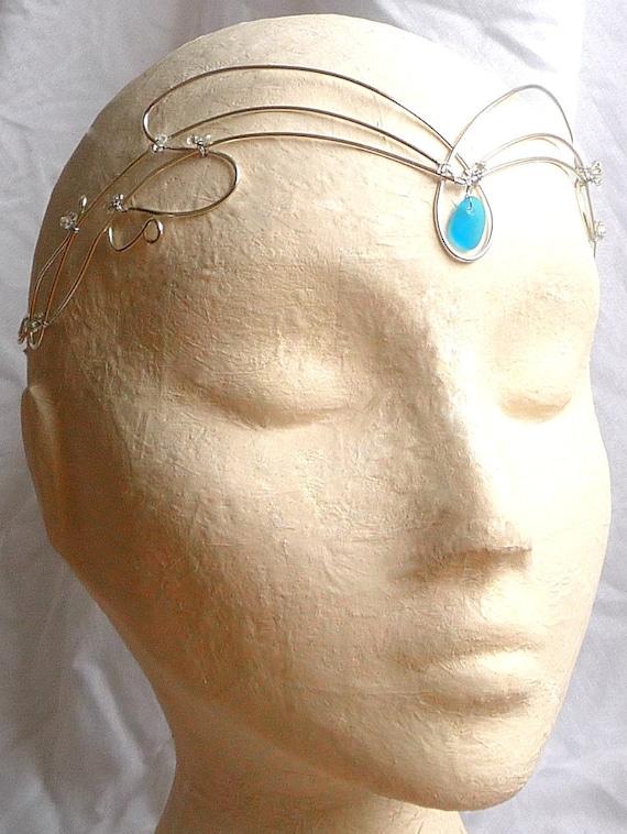Art Nouveau Seaglass Circlet, womens, accessories, headband, handmade