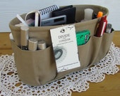 Khaki / Purse ORGANIZER Insert SHAPER / STURDY and durable / 5 Sizes Available / Check out my shop for more colors & styles / Bag Organizer