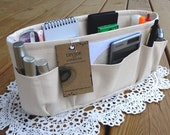 Natural / Purse ORGANIZER insert SHAPER / STURDY and durable / 5 SizesAvailable / Purse insert / Check out my shop for more colors & styles