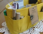Purse insert ORGANIZER SHAPER / Yellow / Available in 5 Sizes / STURDY / Check out my shop for more colors & styles / Bag organizer