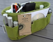 Olive Green / Purse ORGANIZER insert SHAPER / STURDY / Available in 5 Sizes / Check out my shop for more styles & colors / Bag Organizer