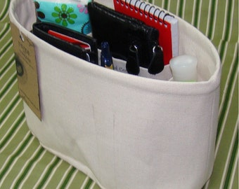 Purse ORGANIZER Insert Shaper / With Stiff Wipe-Clean Bottom/ 5 Sizes Available/You choose color/STURDY / Check out my shop for more variety