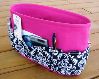 Purse ORGANIZER Insert SHAPER / Extra Tall / With 1 extra option & stiff wipe-clean bottom / You choose color / STURDY / 3 Sizes Available