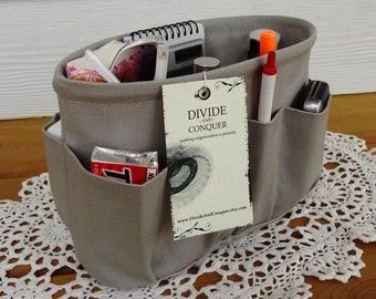 Grey / Purse ORGANIZER Insert SHAPER / Bag Organizer / STURDY / 5 Sizes Available / Check out my shop for more colors & styles