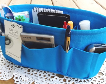 Turquoise / Purse insert ORGANIZER SHAPER / STURDY and durable / 5 Sizes Available / Check out my shop for more colors & styles