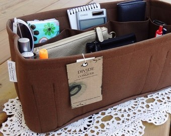 "Fits LV Speedy 35 / Purse ORGANIZER insert Shaper / With Stiff Wipe-Clean Bottom / Sturdy / 13"" x 6.5"" x 6""H / You Choose Color"