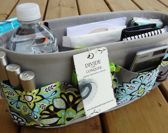 Purse Insert ORGANIZER SHAPER / You Choose Color / STURDY / 5 Sizes Available / Includes 1 extra option & Stiff wipe-clean bottom
