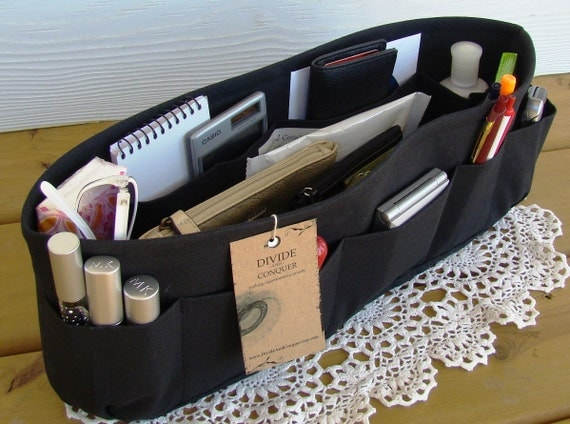 Purse insert ORGANIZER shaper / Bag Organizer / Extra-Large / Black / Sturdy / READY To SHIP