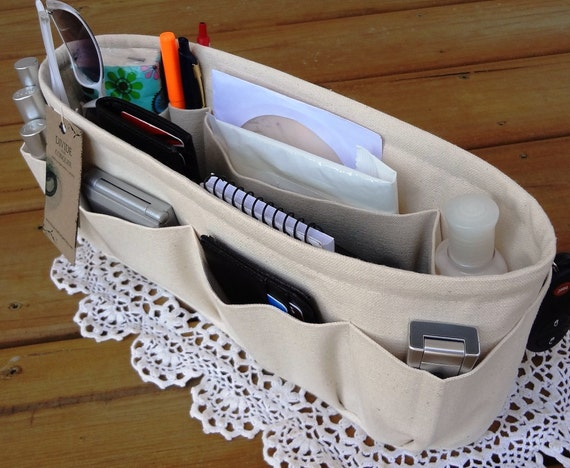 """Purse ORGANIZER insert SHAPER / Bag Organizer / 13.5"""" x 3.5"""" Oval / STURDY / Your choice of color / Check out my shop for more variety"""