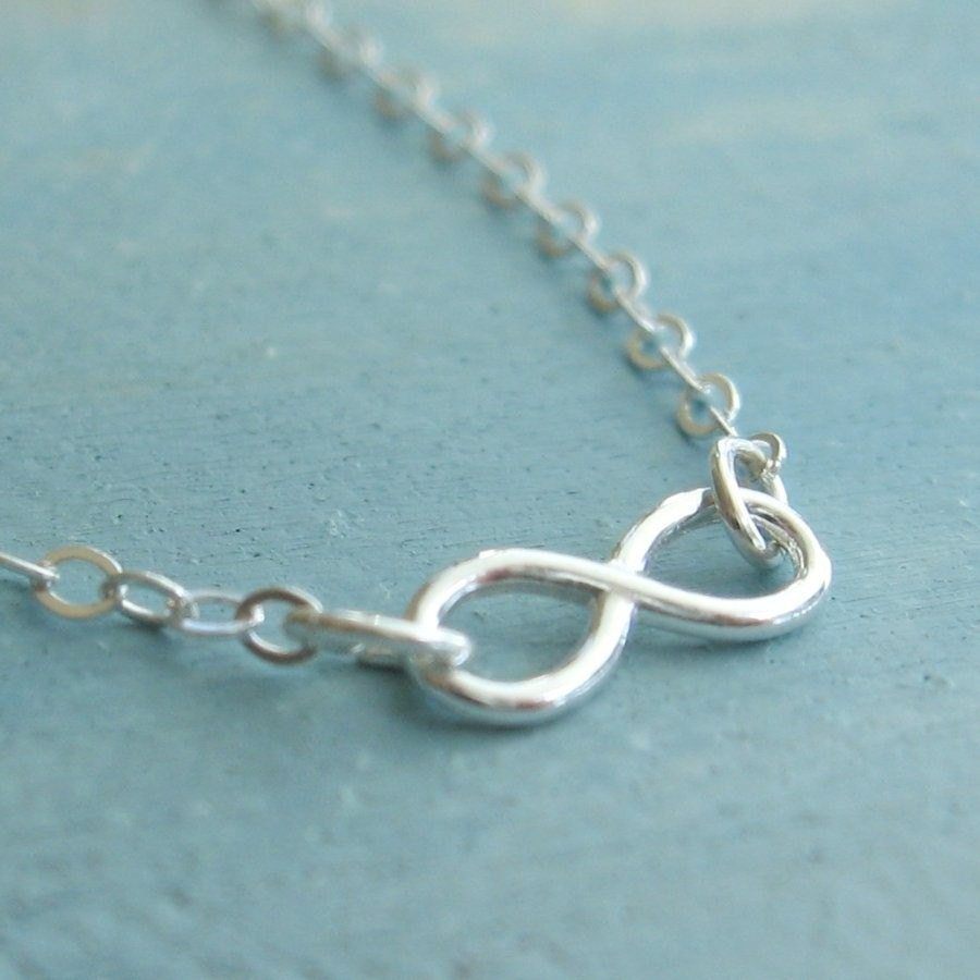 Infinity Necklace Tiny Pendant Sterling Silver Infinity