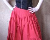 Vintage Boho Gipsy Red Skirt