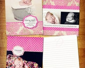 Darcy Birth Announcement and Thank you Set -Photoshop PSD Files