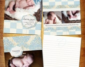 Darren Birth Announcement and Thank you Set -Photoshop PSD File