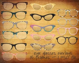 Eye Glasses Frames - Digital Overlays - Photoshop File