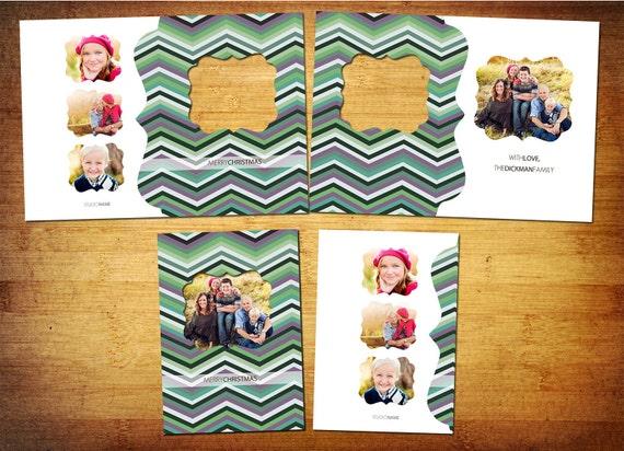ProDigital Photos Folded 5x7 with Cut-out Window - Photoshop PSD Template - ZIG ZAG