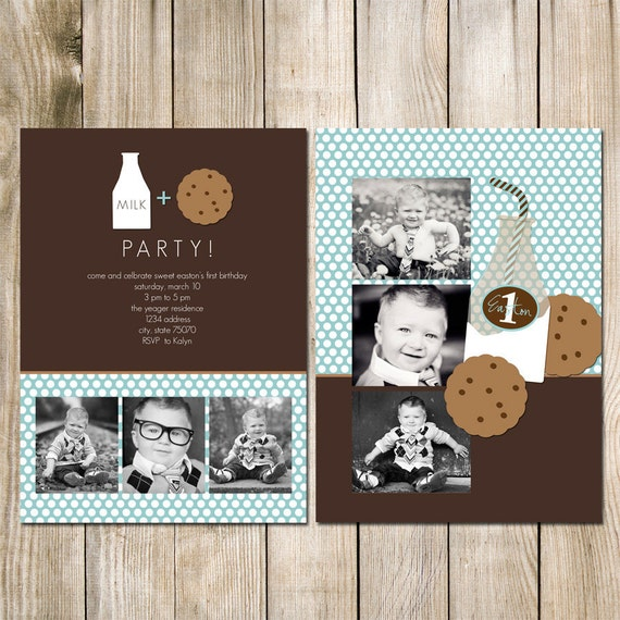 5x7 Birthday Photo Card Photoshop PSD Template MIlk And