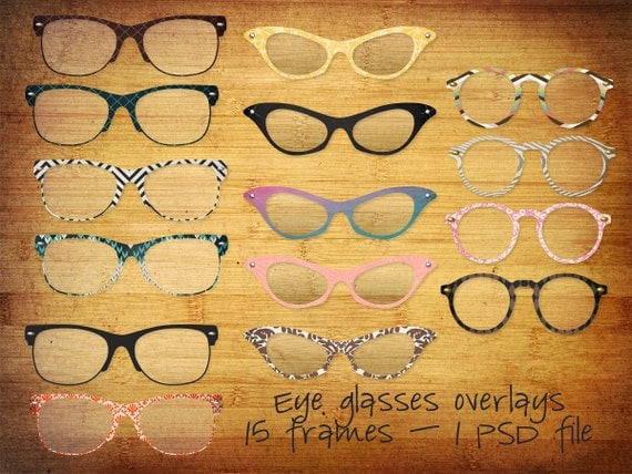 Eye Glasses Frames - Digital Overlays - Photoshop File