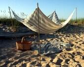 Beach Blanket- Pure Linen-  Queen Size-  Beach Life Survival Kit