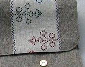 Linen Laptop sleeve- Ornaments Nationales-13 inches Macbook