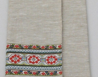Linen Laptop sleeve- Ornaments Nationales Num 2- 13 inches Macbook