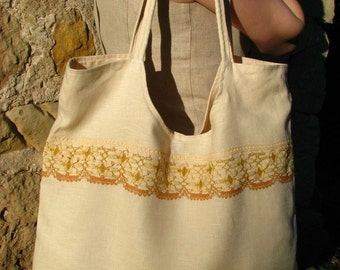 Huge Linen Bag- Vanilla Ice For All Purposes