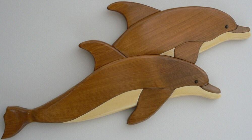 Dolphin intarsia