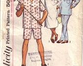 VIintage 1950s Simplicity Sewing Pattern 5039 Mens Pajamas Size 42-44 Large