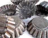 Tin Jelly Molds Tart Tins - Old Fashioned Tin Molds - Aluminum Pastry Molds - WaveSong