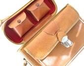 Camera Bag Leather Repurposed Pocketbook - Retro Handbag