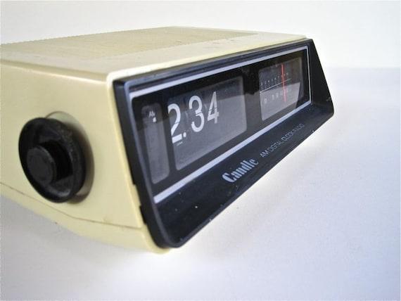 vintage flip clock alarm am radio retro digital clock by. Black Bedroom Furniture Sets. Home Design Ideas