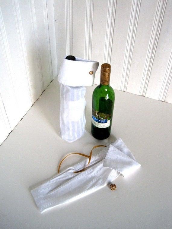 Bottle Gift Bag - Reusable Gift Bag - Liquor Bottle Bag - Recycled Shirt