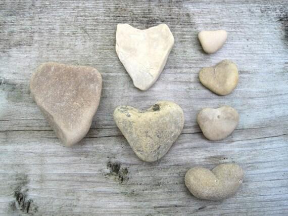 Stone Hearts - Heart Shaped Stones - Natural Stone Heart