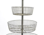 4 Tier Wire Basket French Large