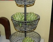 3 Tiered Wire Basket   French