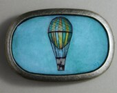 HOT AIR BALLOON- Hand Painted Unisex Belt Buckle