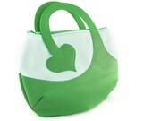SALE -- Mint green heart bag purse