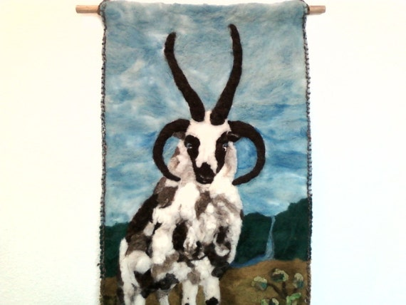 On SALE Jacob Sheep Ram Wall Hanging