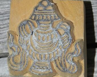 Antique Nepalese Woodcut Block